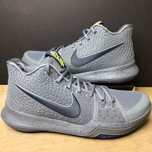 Nike Kyrie 3 Cool Grey 852395-001 Mens Size 9.5